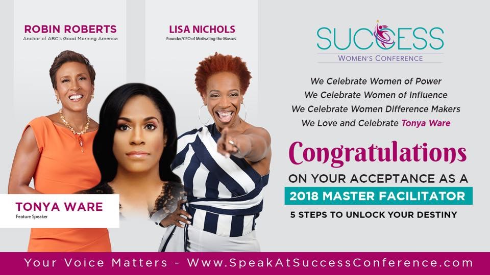 Tonya Ware Speaks At Success Conference